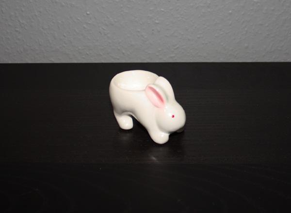 Äggkopp formad som en hare