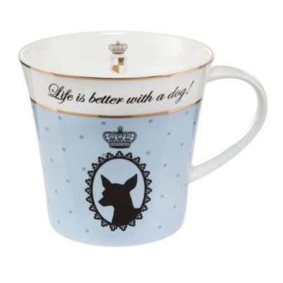 Artist Mug - Life is better with a dog! - Blå