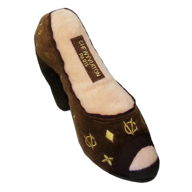 Chewy Vuiton shoe brown