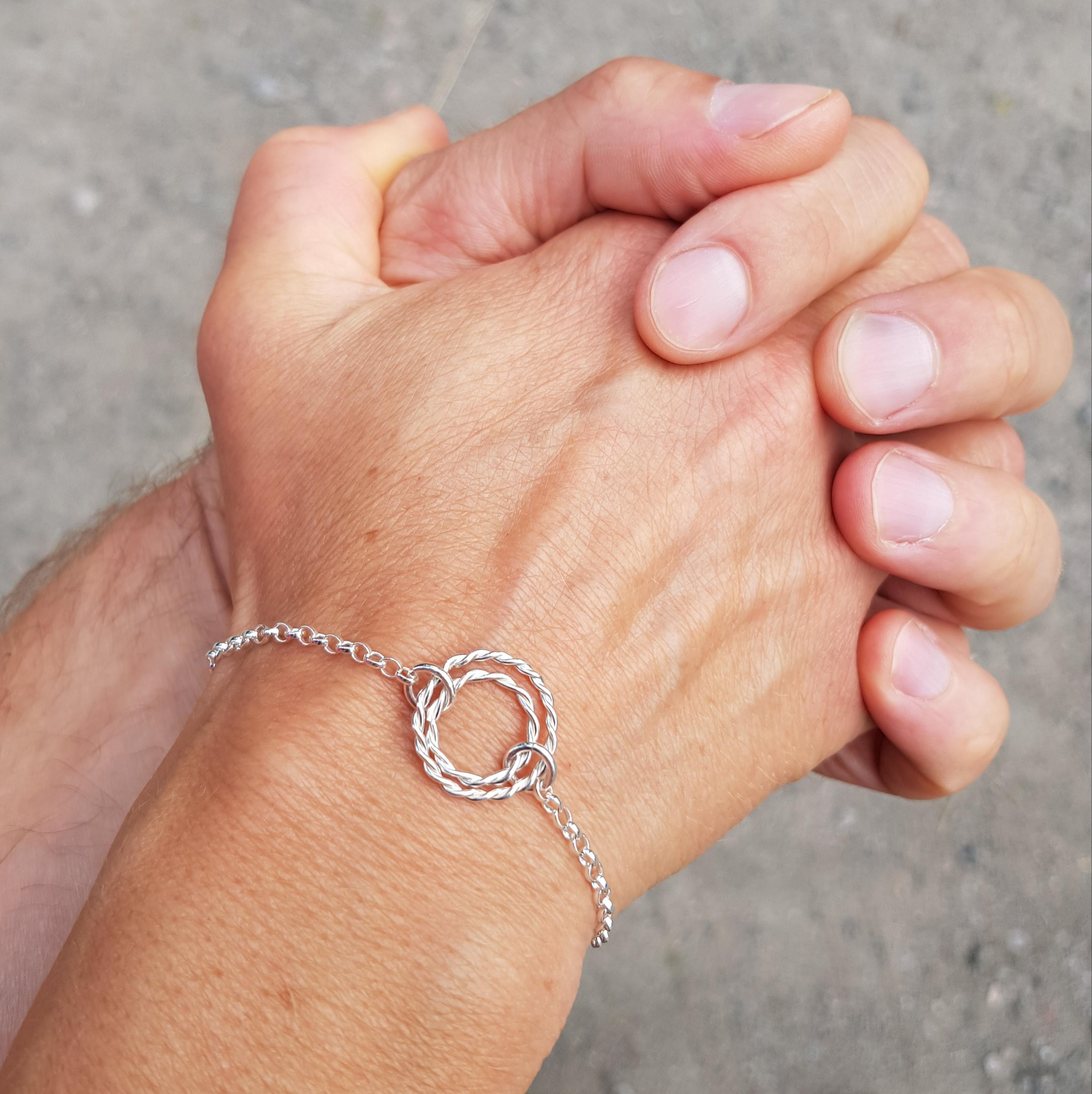 Tvinnat armband återvunnet silver från MNOP Jewelry