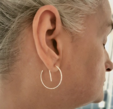 Neo örhängen från MNOP Jewelry återvunnet silver