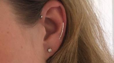 Ear climber återvunnet silver örhängen