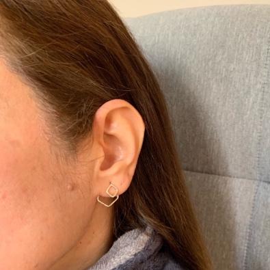 Ear Jacket Fyrkant från MNOP Jewelry återvunnet silver