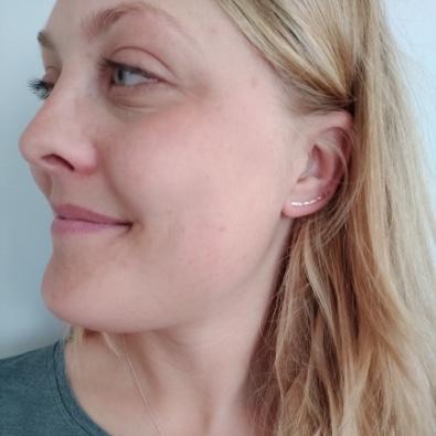 Ear Climber Stor från MNOP Jewelry återvunnet silver