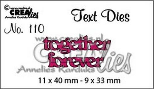 Textdies together forever CLTD110