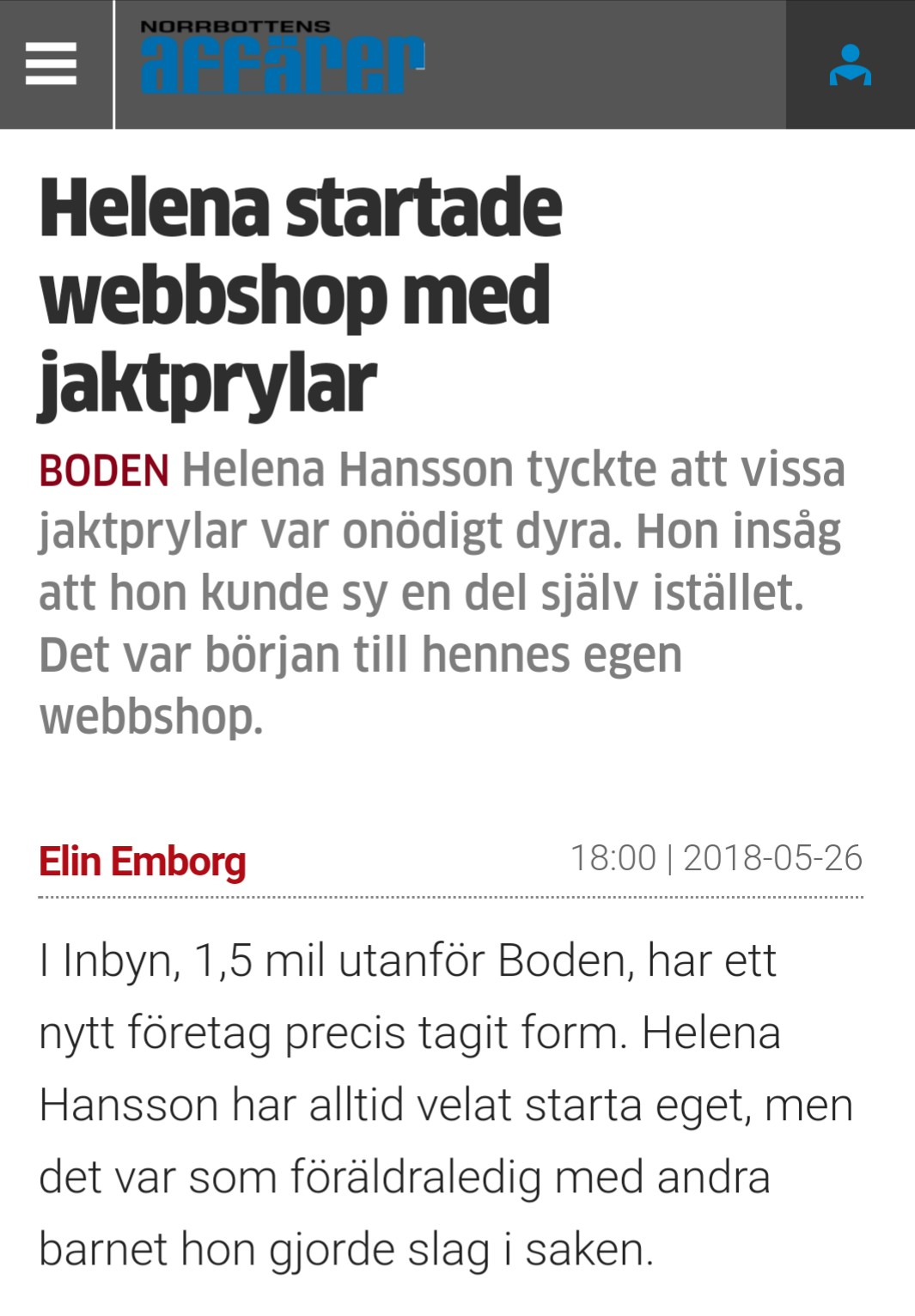 Till Norrbottensaffärer.se