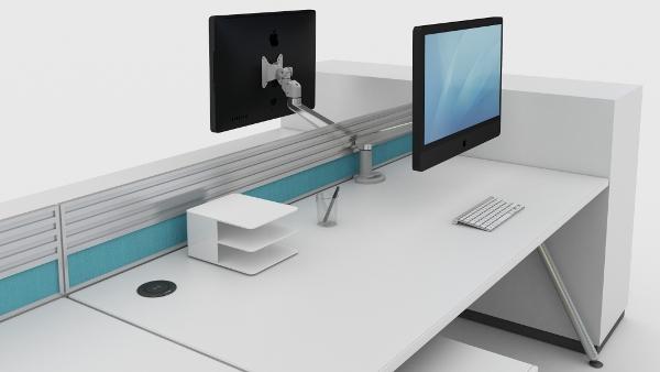 Aircharge trådlös laddare för montering i skrivbord