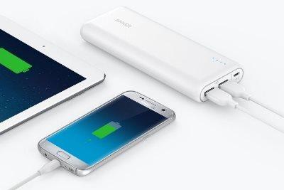 Anker PowerCore 20100mah laddar alla telefoner och surfplattor