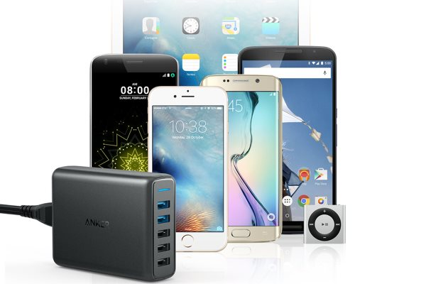 Anker PowerPort Speed 5 - Mobilladdare med Quick Charge - universell mobilladdning
