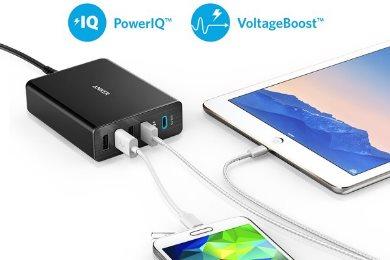 Anker PowerPort plus 5 med PowerIQ för snabb laddning
