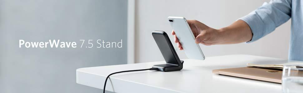 Qi trådlös laddare med Samsung telefon