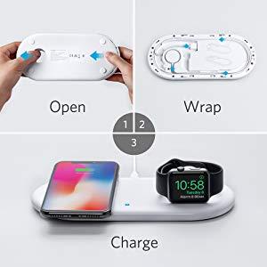 Anker PowerWave+ Pad trådlös laddare för iPhone och Watch Mobilladdare och powerbanker för alla mobiler