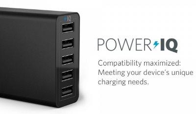 Anker PowerPort 6 mobilladdare med PowerIQ - laddar med rätt strömstyrka