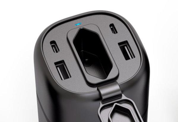 RAVPower PowerStation Powerbank med eluttag för många apparater