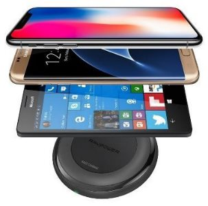 RAVPower snabb trådlös laddare laddar iPhone, Galaxy och alla Qi telefoner