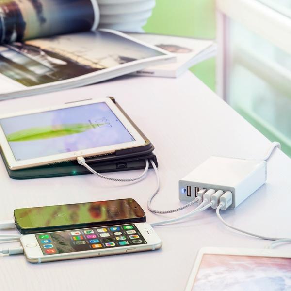 Anker PowerPort 6 mobilladdare som laddar flera apparater samtidigt