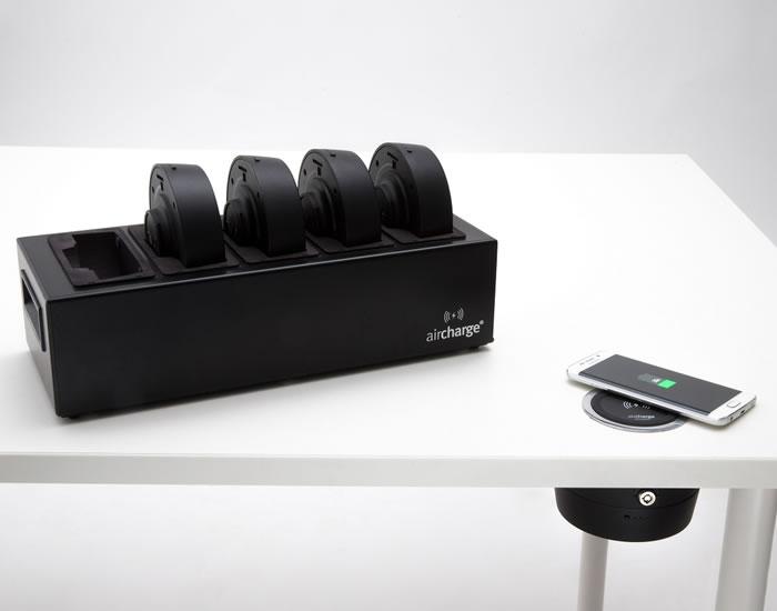 Batterier och laddare för trådlösa laddare med batteridrift
