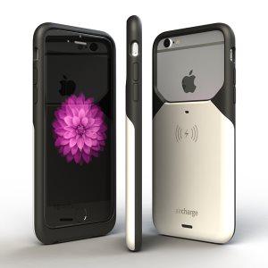 Svart-Vit Aircharge iPhone 6/6s MFi Qi trådlös laddningsskal