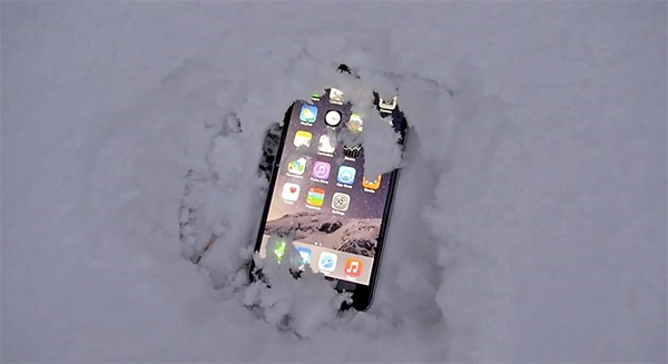 iPhone i snö