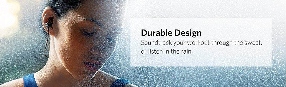 Anker SoundBuds Slim bluetooth hörlurar tål vätskor