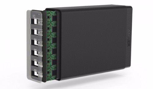 Anker PowerPort 6 mobiladdare med inbyggda skydd mot överbelastning & överhettning