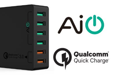 Aukey mobilladdare med AIPower och Quick Charge