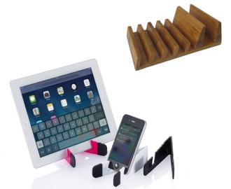 Ställ för bekväm hantering av mobiler och surfplattor