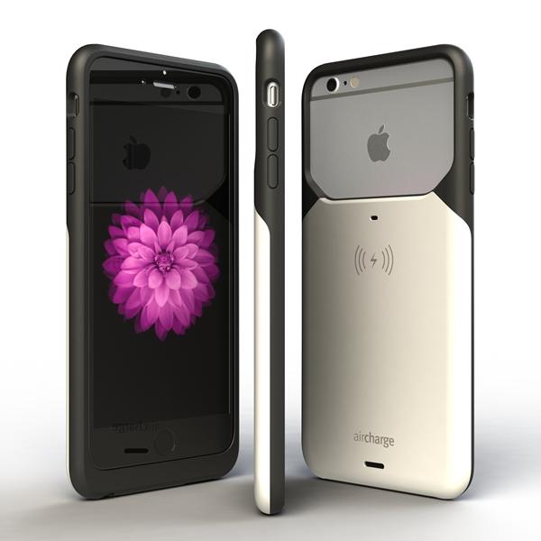 Aircharge iPhone 6s Plus MFi Qi trådlöst laddningsskal