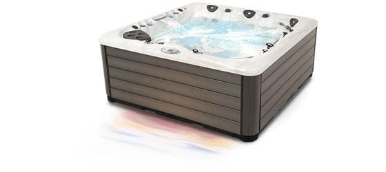 Energiförburkning visualiserat i samband med ett spa bad