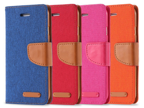 Mobilplånbok i tyg för iPhone 6