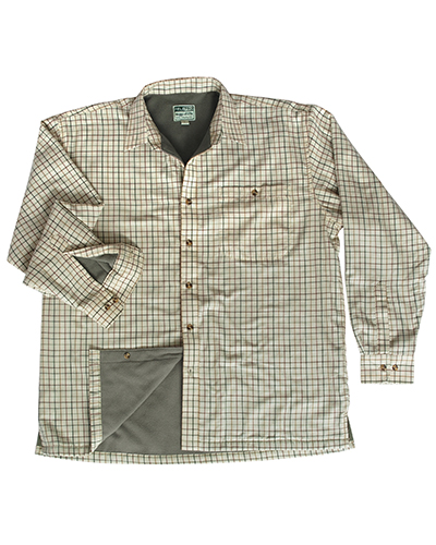 Varm microfleece skjorta