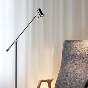 Golvläslampor, perfekt för läsning i soffan