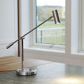 Funktionella skrivbordslampor, designade läslampor från välkända varumärken