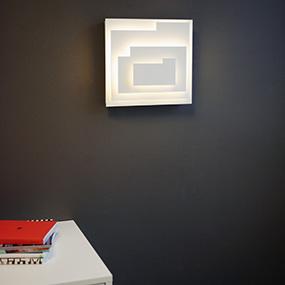 Plafonder på vägg och vägglampor med skärm