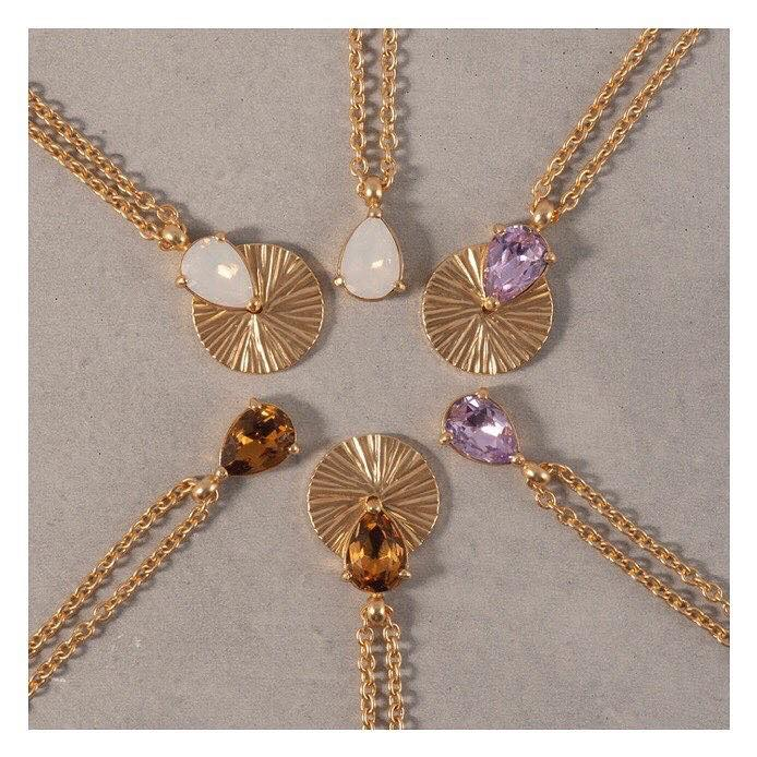 Halsband guld olika färger bud to rose