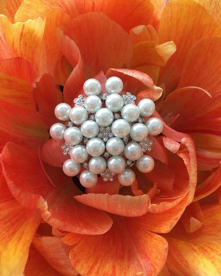 brosch cruella pärlor kristaller 1 saint avenue