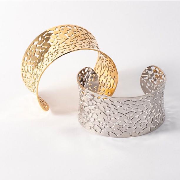 guld och silverarmband bud to rose