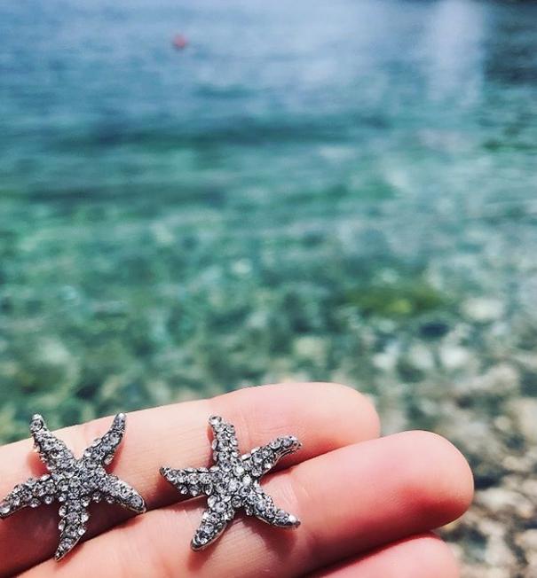 kristallörhängen starfish sjöstjärna