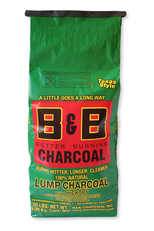 B&B Hickory Lump Charcoal 9 kg