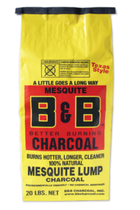 B&B Mesquite Lump Charcoal 9 kg