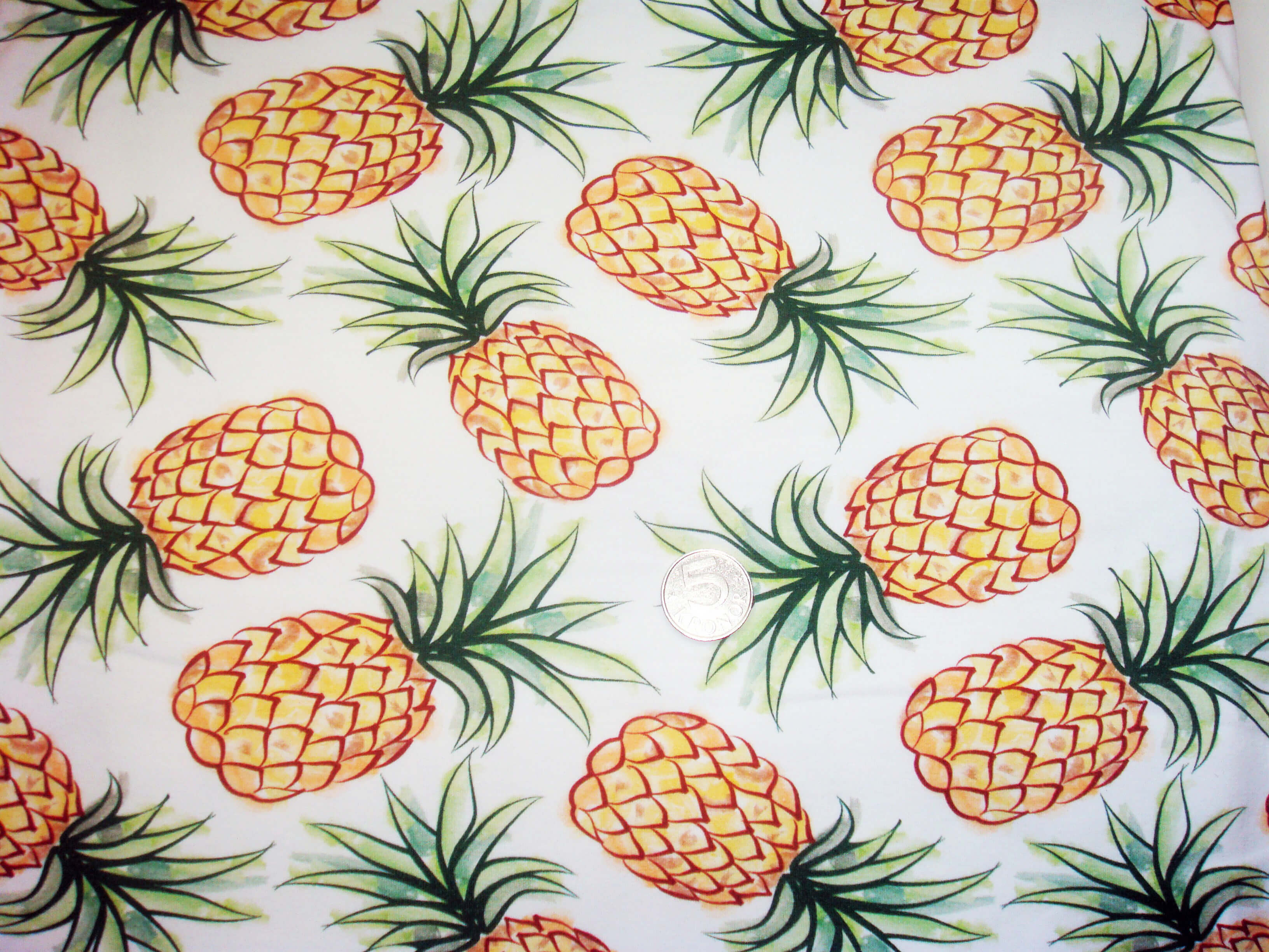 Ananas Big, Vit #460, eko GOTS