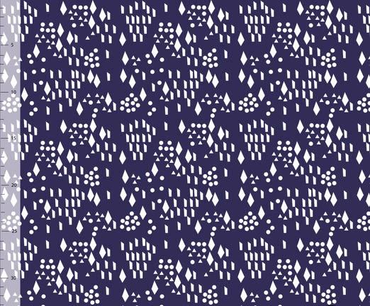 Diamond Dots, Marinblå #410, eko