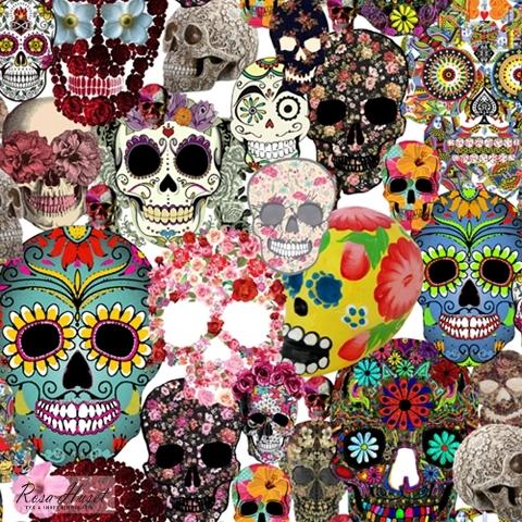 Döskallar Sugar Skulls #191, ökotex