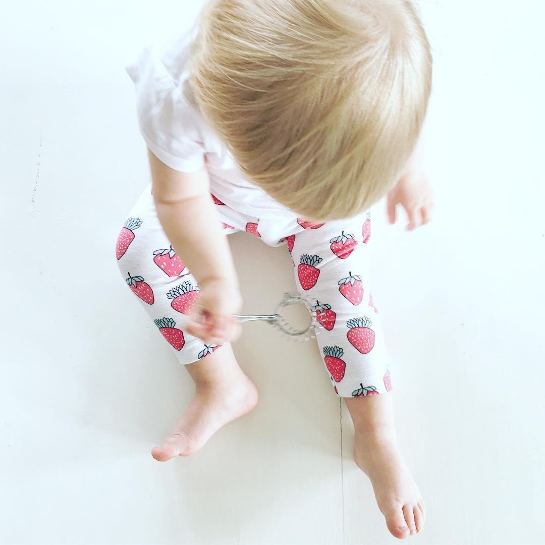 Leggings med Jordgubbar