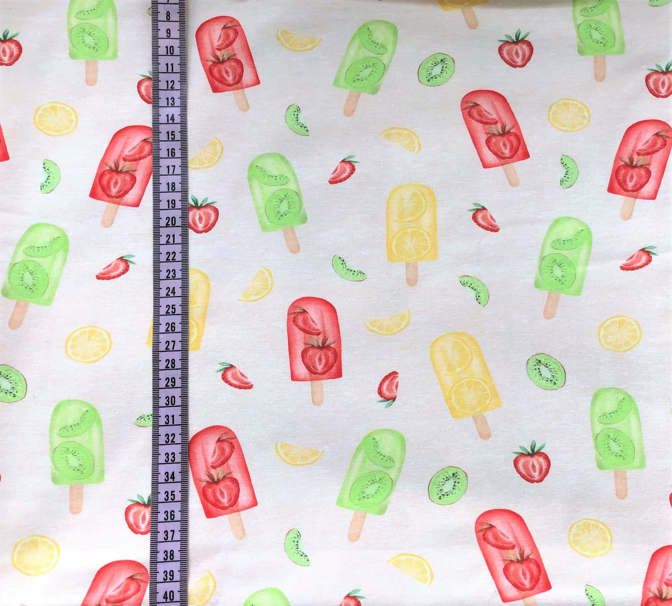 Glassar med frukt, Beigemelerad #601, eko