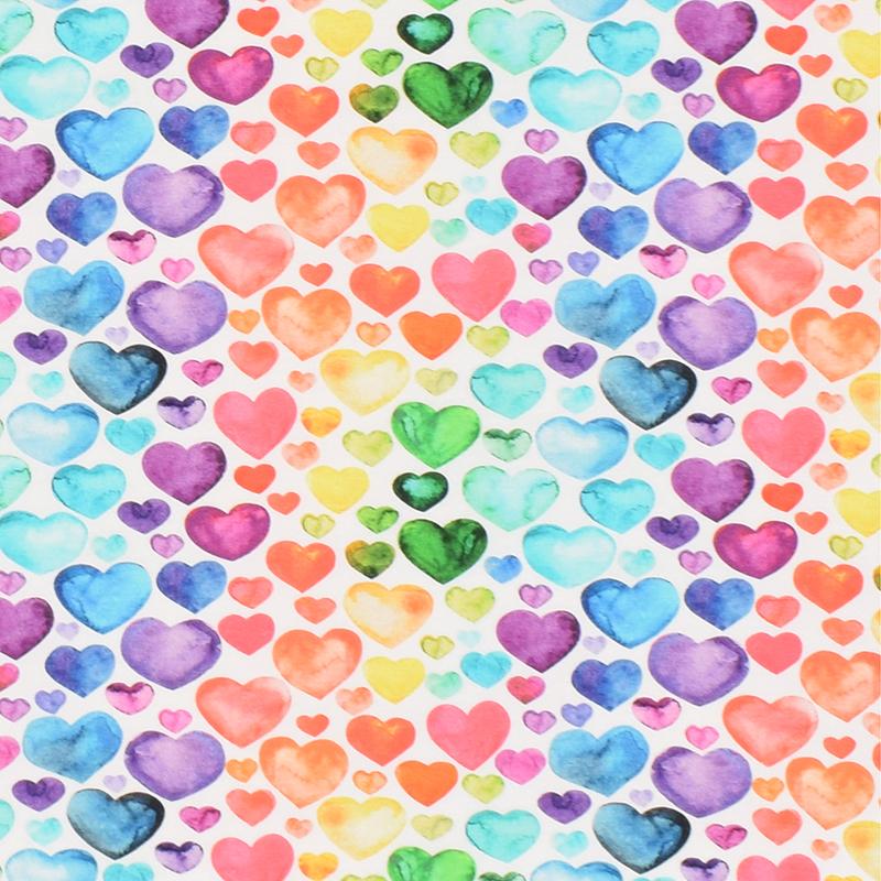 Hjärtan, Regnbågsfärg #597 ökotex