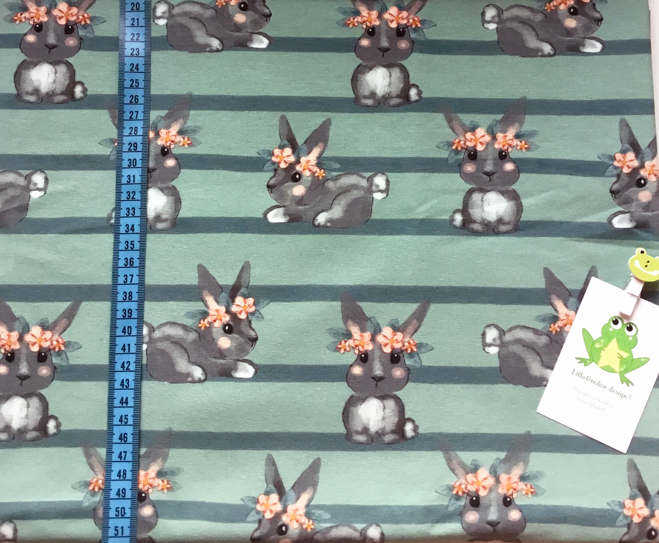 Kanin Flora, Grågrön #566, ökotex