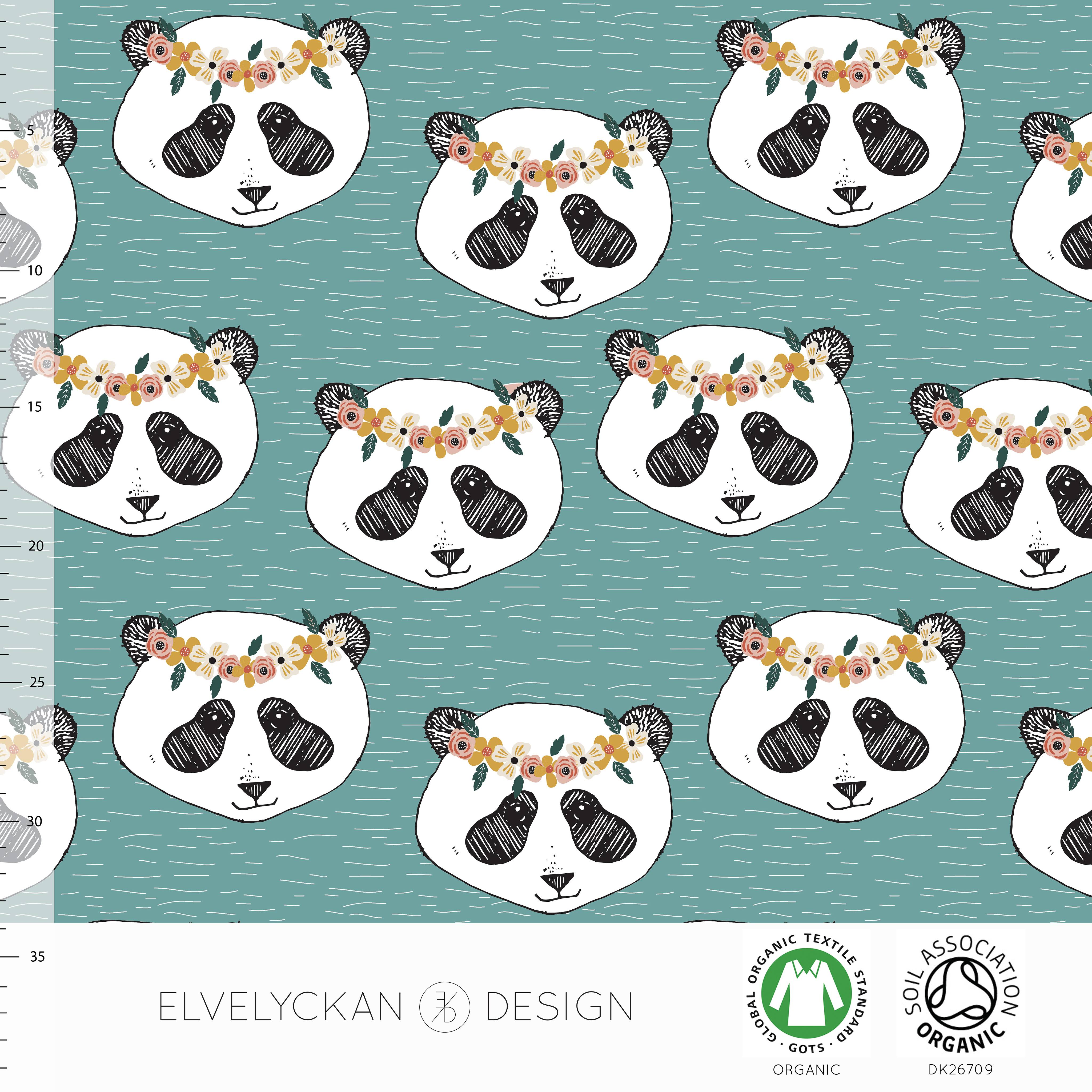 Panda Flora, Aqua, eko/GOTS #538