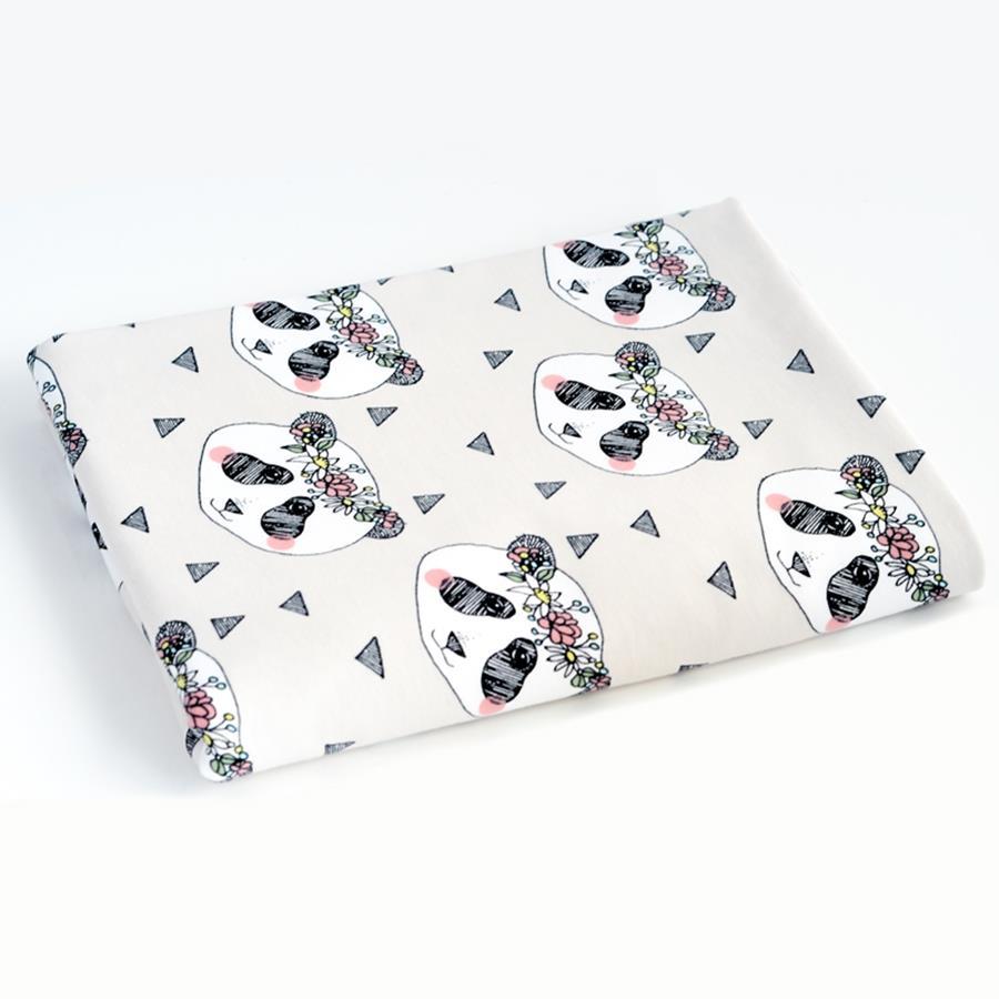 Panda Krans, Ljusgrå #445, eko