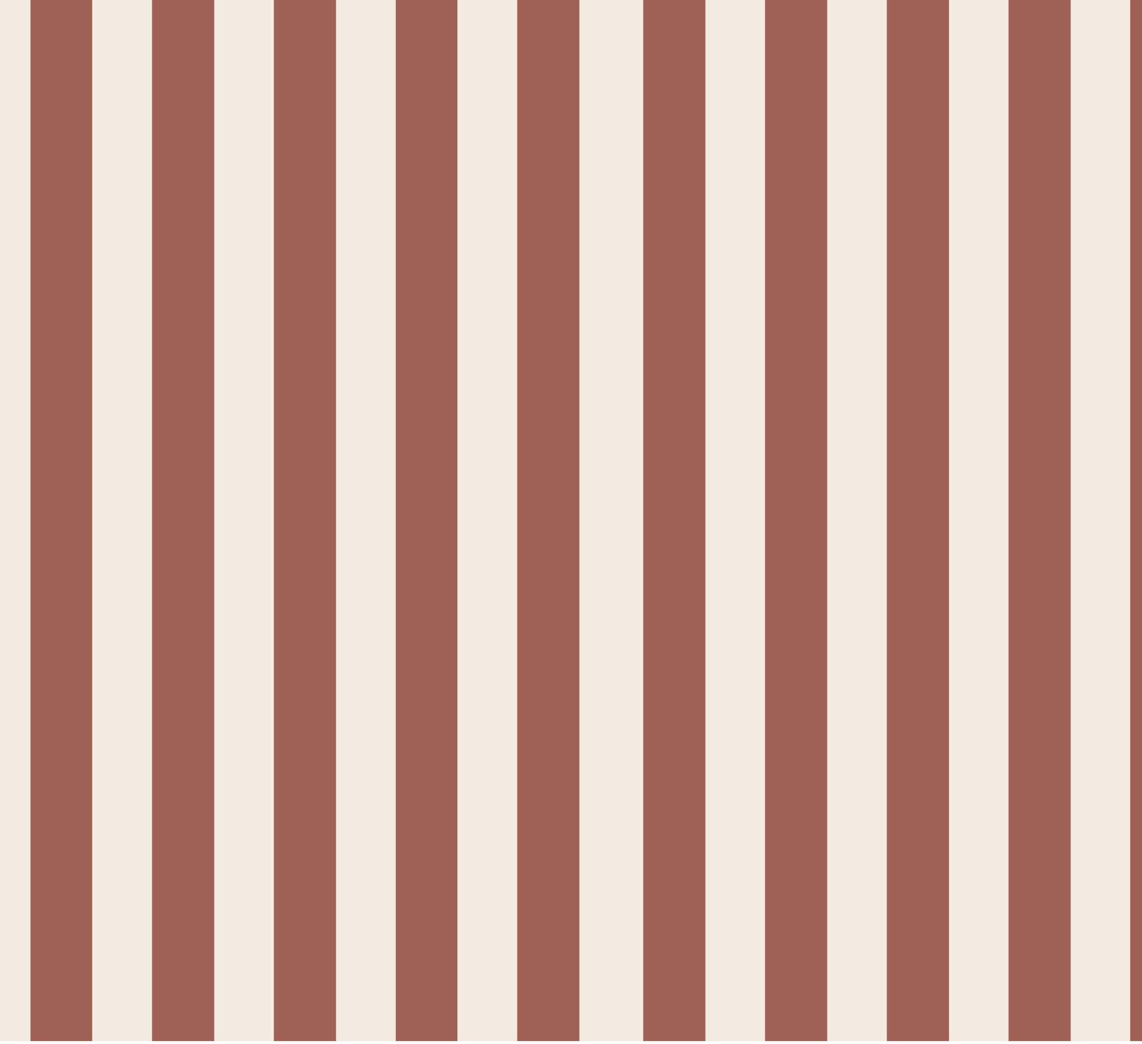 Ränder Lodrät, Rost/Creme #577, eko GOTS (ränderna är 1,5 cm breda)